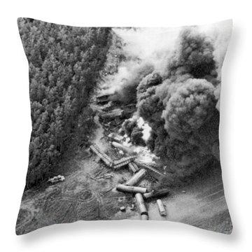 Alaskan Train Wreck Throw Pillow