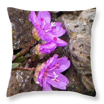 Alaskan Wildflower Throw Pillow