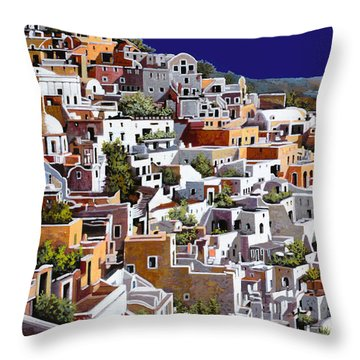 alba a Santorini Throw Pillow