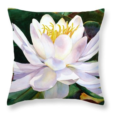 Alba Flora Throw Pillow by Karen Mattson