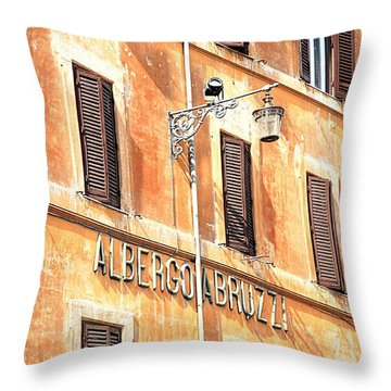 Albergo Abruzzi Throw Pillow by Valentino Visentini