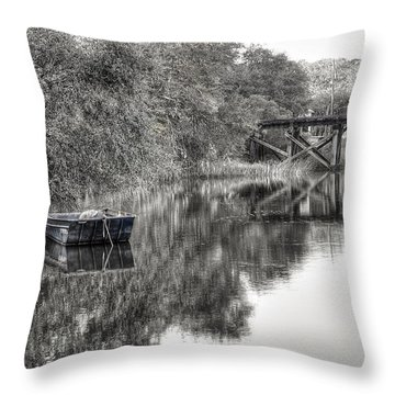 Albergottie Creek Trestle Throw Pillow