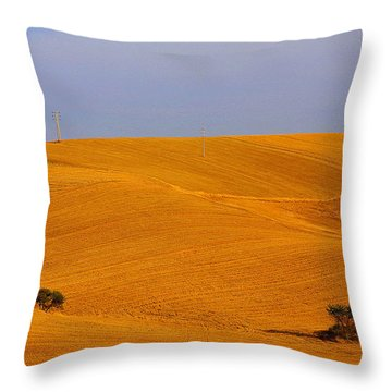 Trees In The Wheat Field Throw Pillow