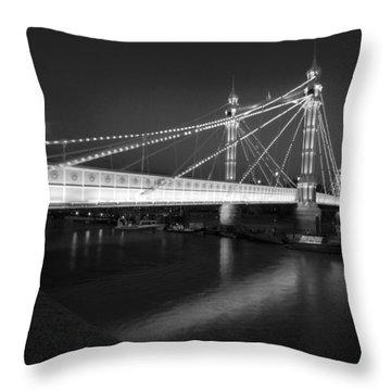 Albert Bridge At Night  Throw Pillow
