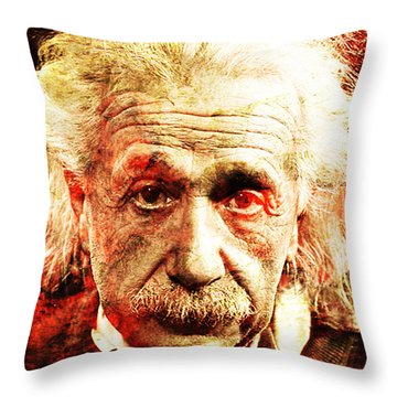 Albert Einstein  Throw Pillow by J- J- Espinoza