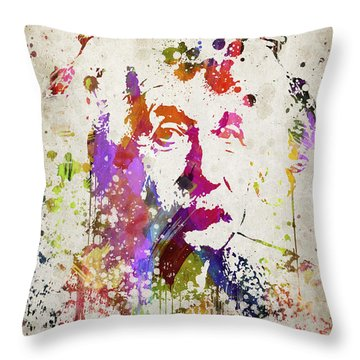 Albert In Color Throw Pillow