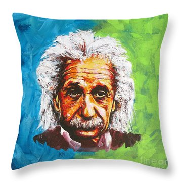 Albert Tribute Throw Pillow