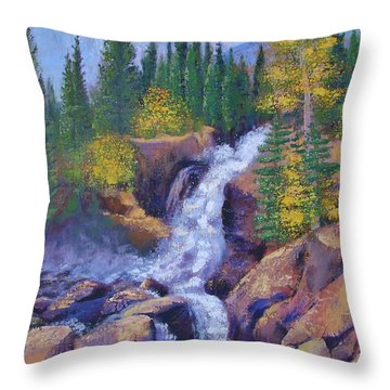 Alberta Falls Throw Pillow by Margaret Bobb