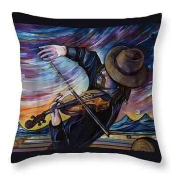 Alberta Fiddle Throw Pillow