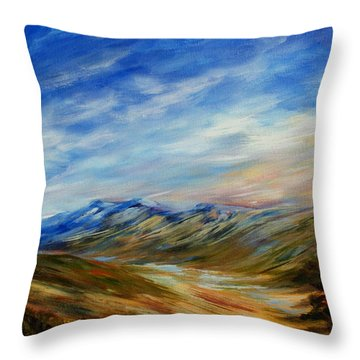 Alberta Moment Throw Pillow by Joanne Smoley