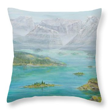 Alberta Rocky Mountains Throw Pillow