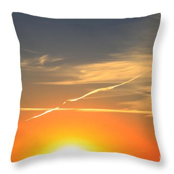 Alberta Sunset Throw Pillow by Alyce Taylor