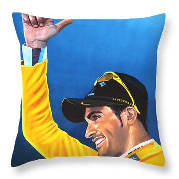 Alberto Contador Throw Pillow