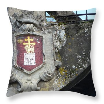 Albi Crest On Bridge Throw Pillow by Susan Alvaro