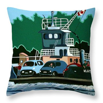 Albion Ferry Throw Pillow