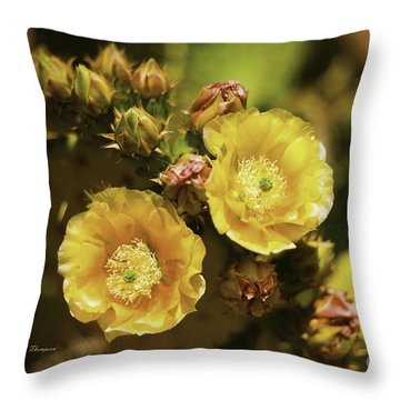 'albispina' Cactus #3 Throw Pillow
