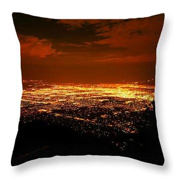 Albuquerque New Mexico  Throw Pillow