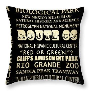 Albuquerque New Mexico Famous Landmarks Throw Pillow