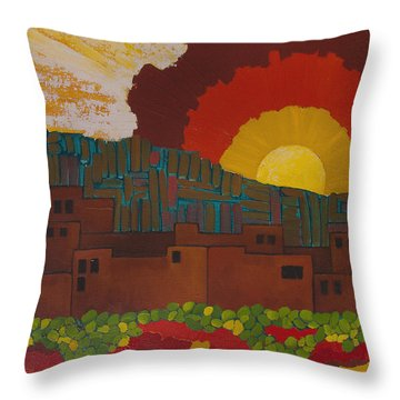 Albuquerque Nm Throw Pillow by Lena Wilhite