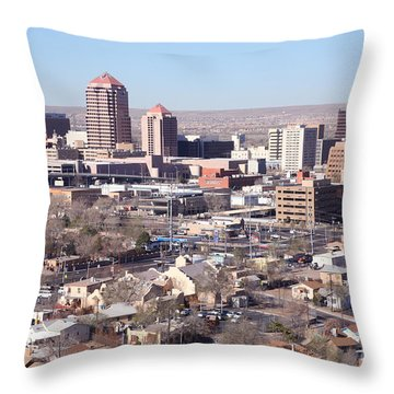 Albuquerque Skyline Throw Pillow by Bill Cobb