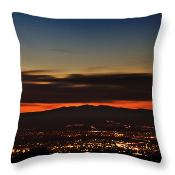 Albuquerque Sunset Throw Pillow