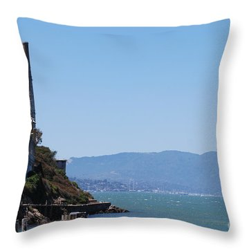 Throw Pillow featuring the photograph Alcatraz #2 by George Mount