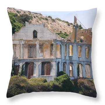 Throw Pillow featuring the photograph Alcatraz #3 by George Mount