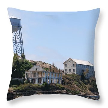 Throw Pillow featuring the photograph Alcatraz by George Mount