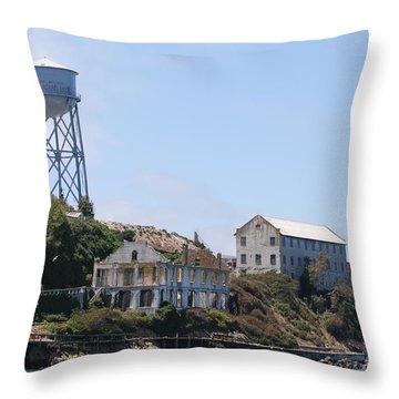 Alcatraz Throw Pillow by George Mount