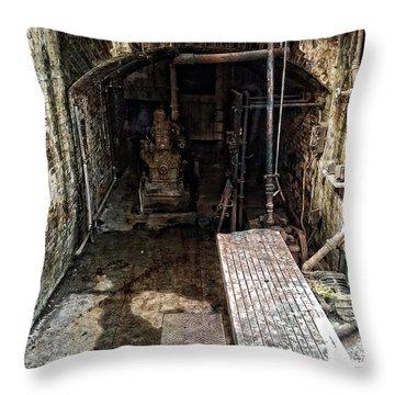 Alcatraz Island Morgue Throw Pillow by Daniel Hagerman