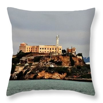 Alcatraz Island - The Rock Throw Pillow