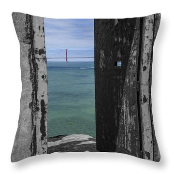Alcatraz -the Rock Throw Pillow