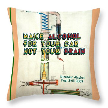 Alcohol For Car Not Brain Poster Throw Pillow