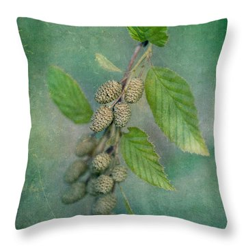 Alder Catkins Throw Pillow