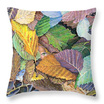 Alder Leaves And Faerie Throw Pillow