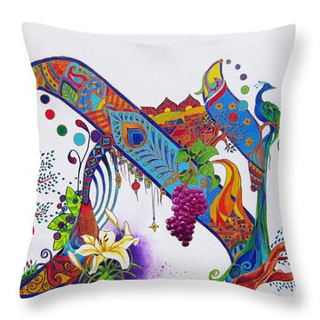 Aleph II Throw Pillow