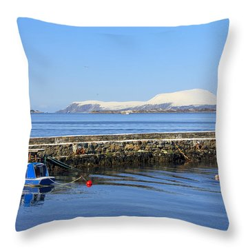 Alesund Lighthouse Throw Pillow