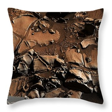 Alexander Hills Bedrock In Mars Throw Pillow
