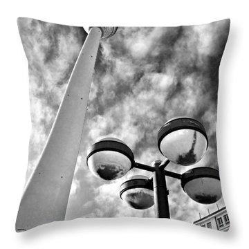 Alexander Platz - Berlin Throw Pillow by Luciano Mortula