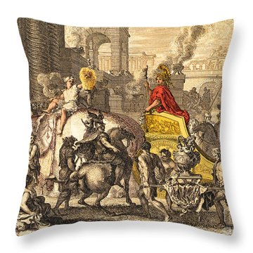 Alexander The Great Entering Babylon Throw Pillow by Getty Research Institute