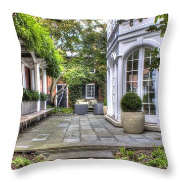 Alexandria Courtyard Throw Pillow