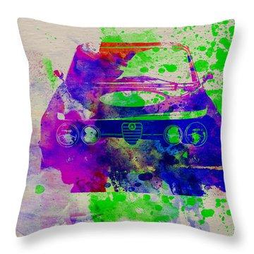 Alfa Romeo Front Watercolor 1 Throw Pillow by Naxart Studio