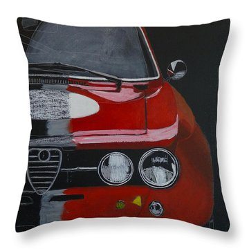 Throw Pillow featuring the painting Alfa Romeo Gtv  by Richard Le Page