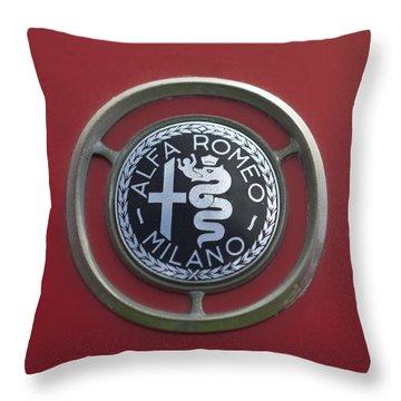 1961 Alfa Romeo Giulietta Sprint Veloce Series II Emblem -1045c Throw Pillow