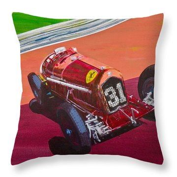 Alfa Romeo Tipo B P3  Throw Pillow by Anna Ruzsan