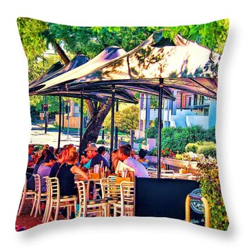 Alfresco Throw Pillow by Wallaroo Images