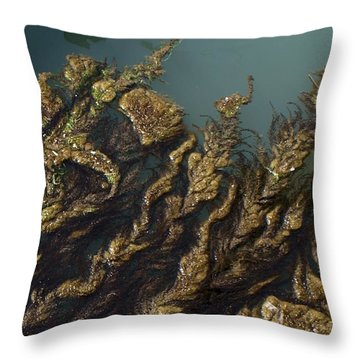 Throw Pillow featuring the digital art Algae by Ron Harpham