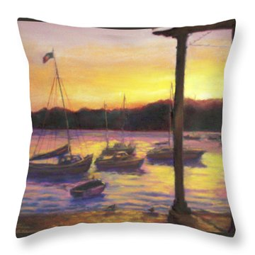 Algarve Sunset Throw Pillow