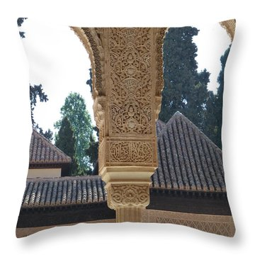 Alhambra Palace Rooftops  Throw Pillow by Susan Alvaro