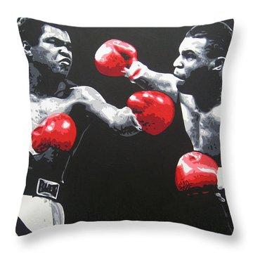 Ali V Tyson Throw Pillow